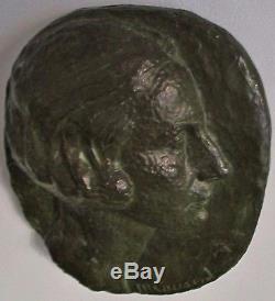Sculpture Bas Relief Bronze Marguerite Cousinet 1930 Art Deco Era Maillol Statue