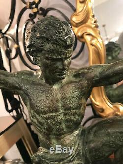 Sculpture Bronze Art Deco By Germain Hervor, Signed