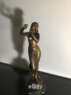 Sculpture Bronze Orientalist Art Nouveau Signed E Drouot