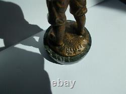 Sculpture Chryselephantine Bronze Bailly Statuette Child Boy Art Deco