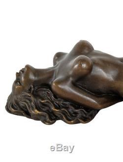 Sculpture Eroticism Bronze Art Style Antique Statue 22cm