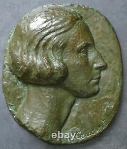 Sculpture Low Relief Bronze M. Cousinet Art Deco Lost Wax Valsuani Era Maillol