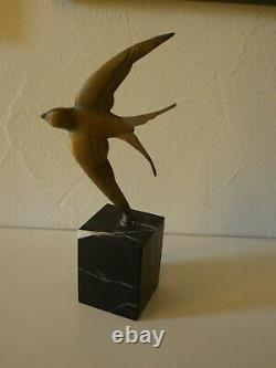 Sculpture The Marble Swallow Art Deco 1920 1930