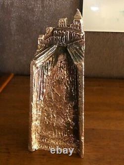 Sculpture Trophee En Bronze, Signed Louis Derbré, Edf 1992 Art