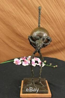 Signed Abstract Ostrich Picasso Bronze Sculpture Figurine Art Bird