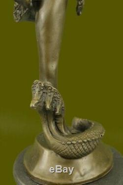 Signed Bronze Art Nouveau Deco Chiparus Statue Figurine Sculpture Art Figurine Nr