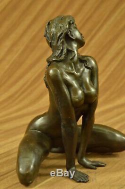 Signed Bronze Sculpture Erotic Art Nude Sex Figurine Figurine Statue