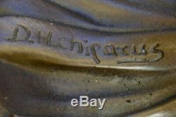 Signed Bronze Style Art Nouveau Deco Chiparus Statue Figurine Sculpture Gift
