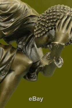 Signed Bronze Style Art Nouveau Deco Chiparus Statue Figurine Sculpture Large