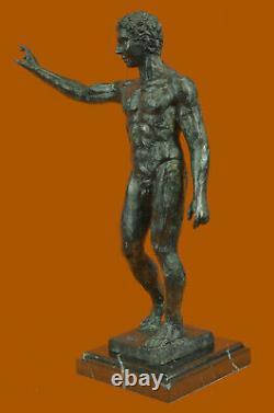 Signed Rodin Modern Abstract Art Deco Chair Man Torso Bronze Sculpture Fonte