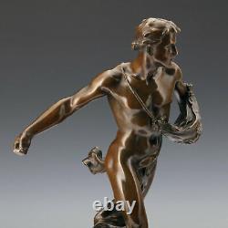 Sower J.b. Germaine Um 1900 Art Nouveau Bronze Sculpture Statue Of