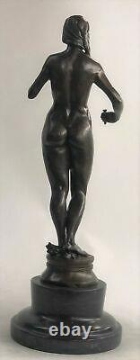 Special Chair Nude Watch Skating Bronze Sculpture Museum Quality Art Decor Sale