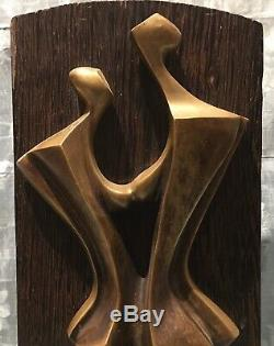 Statue 20em Xxèm Cubism Modern Women Couple Art Ekanga Drc Uncommon