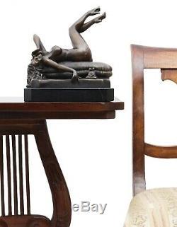 Statue Art Eroticism Phone Bronze Sculpture Figurine 23cm