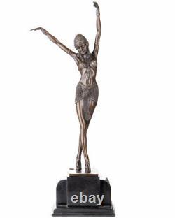 Statue Bronze Sculpture 57cm Style Art Nouveau Copyright Chiparus