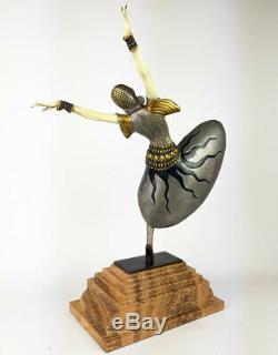 Statue Bronze Sculpture 68cm Style Art Nouveau Chryselephantine Statue