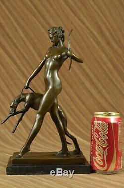 Statue Diane Huntress Sculpture Art Deco Style Bronze Hot New Cast