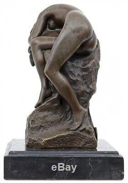 Statue Erotic Woman Art Bronze Sculpture Figurine 17cm