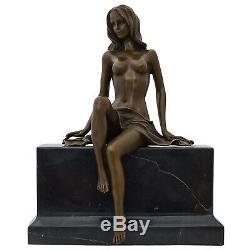 Statue Erotic Woman Art Bronze Sculpture Figurine 27cm