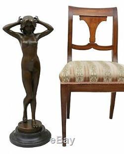 Statue Erotic Woman Art Bronze Sculpture Figurine 78cm