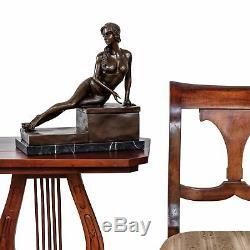 Statue Eroticism Art Woman Bronze Sculpture Figurine 33cm