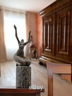 Statue Eroticism Bronze Art Sculpture Figurine 32cm