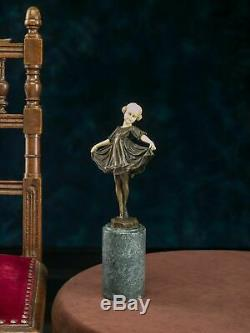 Statue Of Young Ballerina Postflow Ferdinand Preiss Art Deco Bronz