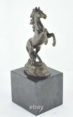 Statue Sculpture Animal Horse Style Art Deco Massive Bronze Sign