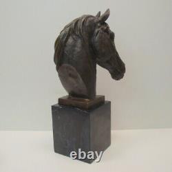 Statue Sculpture Animal Horse Style Art Deco Style Art Nouveau Massive Bronze