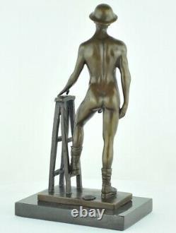 Statue Sculpture Athlete Nu Sexy Style Art Deco Massive Bronze