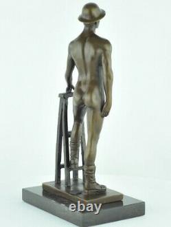 Statue Sculpture Athlete Sexy Style Art Deco Massive Bronze