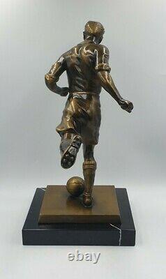 Statue Sculpture Bronze Footballer Regule Make Marble Art