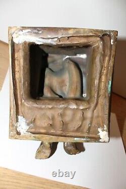 Statue Sculpture Bronze Model Naked Chair Signed Huillard 2/8 Rare Art