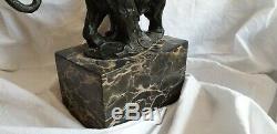 Statue / Sculpture Bronze Signed Milo Elephant Art Deco