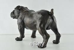 Statue Sculpture Bulldog Dog Animal Style Art Deco Bronze Massive