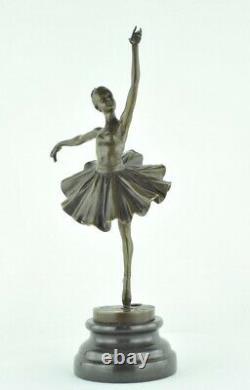 Statue Sculpture Classical Dancer Opera Style Art Deco Massive Bronze Sign
