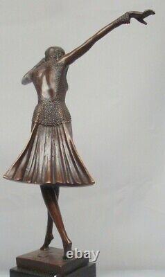 Statue Sculpture Dancer Charleston Style Art Deco Style Art Nouveau Bronze Mas