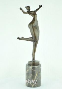 Statue Sculpture Dancer Nude Acrobat Sexy Style Modern Style Art Deco Bronze