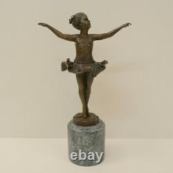 Statue Sculpture Dancer Style Art Deco Style Art Nouveau Massive Bronze Sign