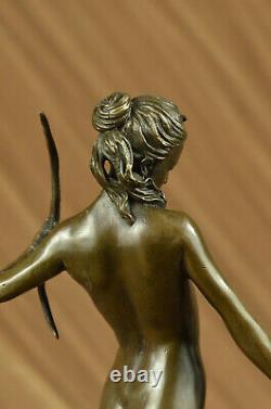 Statue Sculpture Diane Chasseresse Art Deco Style New Bronze Lost Wax