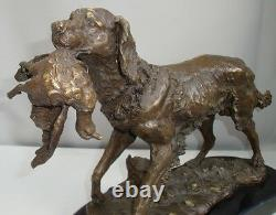 Statue Sculpture Dog Hunting Animal Style Art Deco Style Art Nouveau Bronze