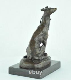 Statue Sculpture Dog Hunting Animal Tree Style Art Deco Massive Bronze Sign