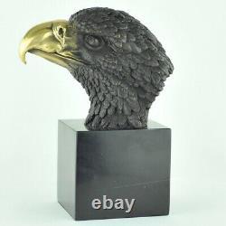 Statue Sculpture Eagle Bird Animal Bird Style Art Deco Massive Bronze Sign