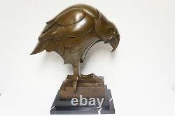 Statue Sculpture Eagle Bird Animal Style Art Deco Style Art Nouveau Bronze