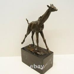 Statue Sculpture Girafe Animal Style Art Deco Style Art New Solid Bronze