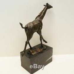 Statue Sculpture Giraffe Animal Style Art Deco Art Nouveau Massive Bronze