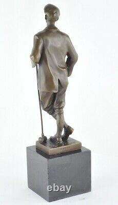 Statue Sculpture Golfer Golf Style Art Deco Massive Bronze Sign