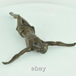 Statue Sculpture Jesus-christ Style Art Deco Massive Bronze