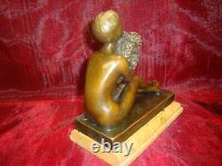 Statue Sculpture Lady Nue Sexy Style Art Deco Style Art Nouveau Bronze Mas