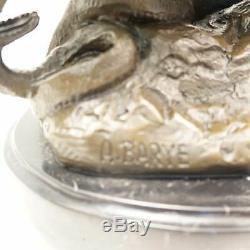 Statue Sculpture Lion Animal Style Art Deco Style Art Nouveau Solid Bronze S